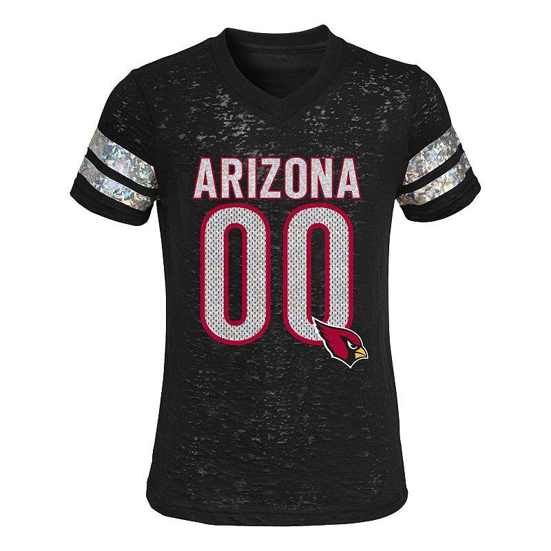 Girls 4-6x Arizona Cardinals Burnout Tee