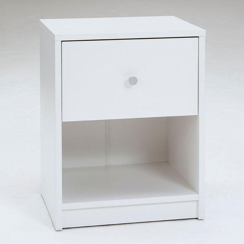 Tvilum Portland 1-Drawer Nightstand, White
