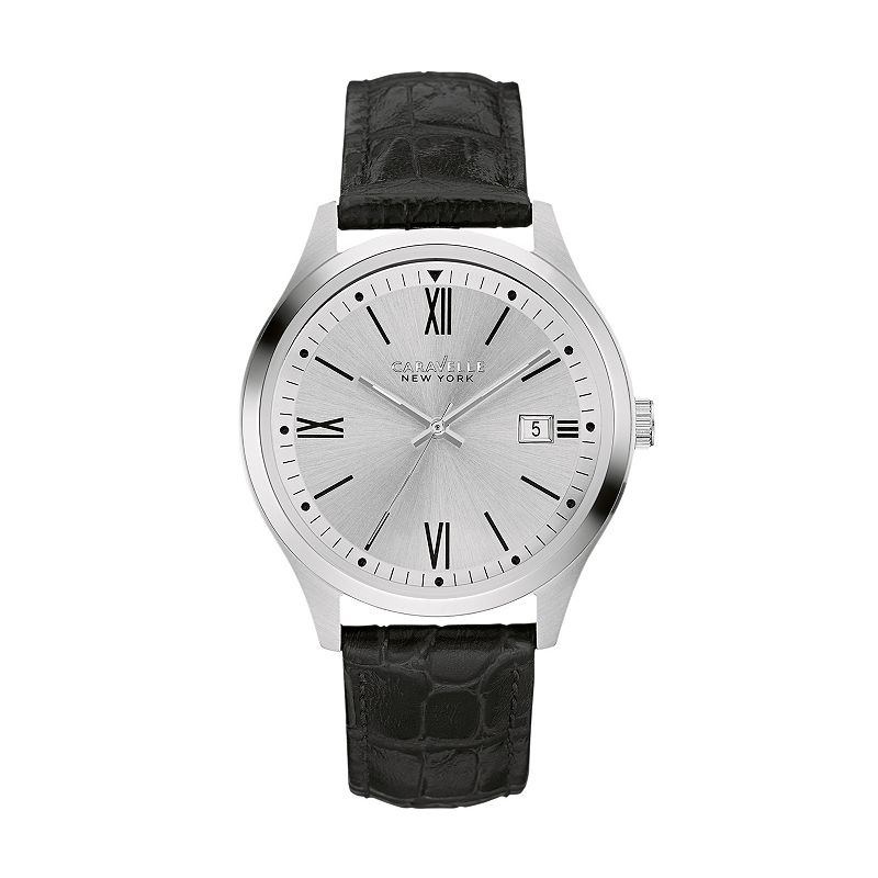 Caravelle New York by Bulova Men's Leather Watch