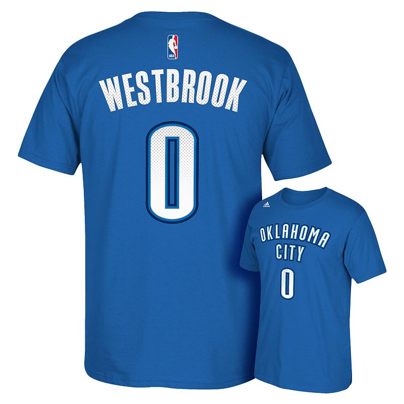 Men's adidas Oklahoma City Thunder Russell Westbrook Reflective Name and Number Tee