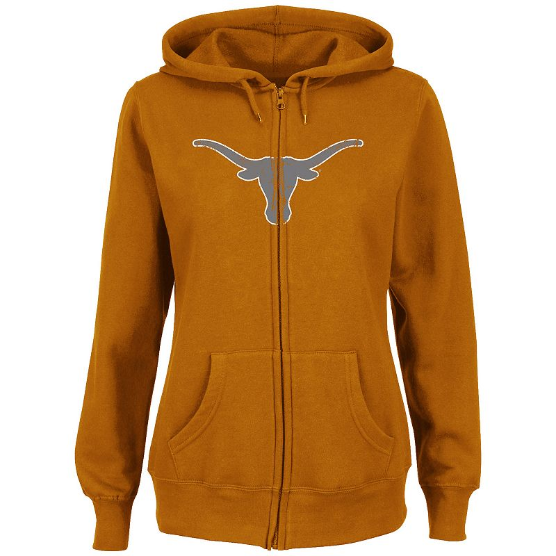 Women's Section 101 by Majestic Texas Longhorns Sudden Victory Fleece Hoodie