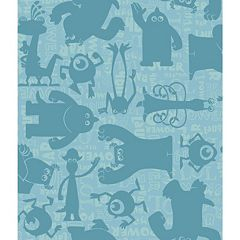 Disney / Pixar Monsters, Inc. Graphic Removable Wallpaper by