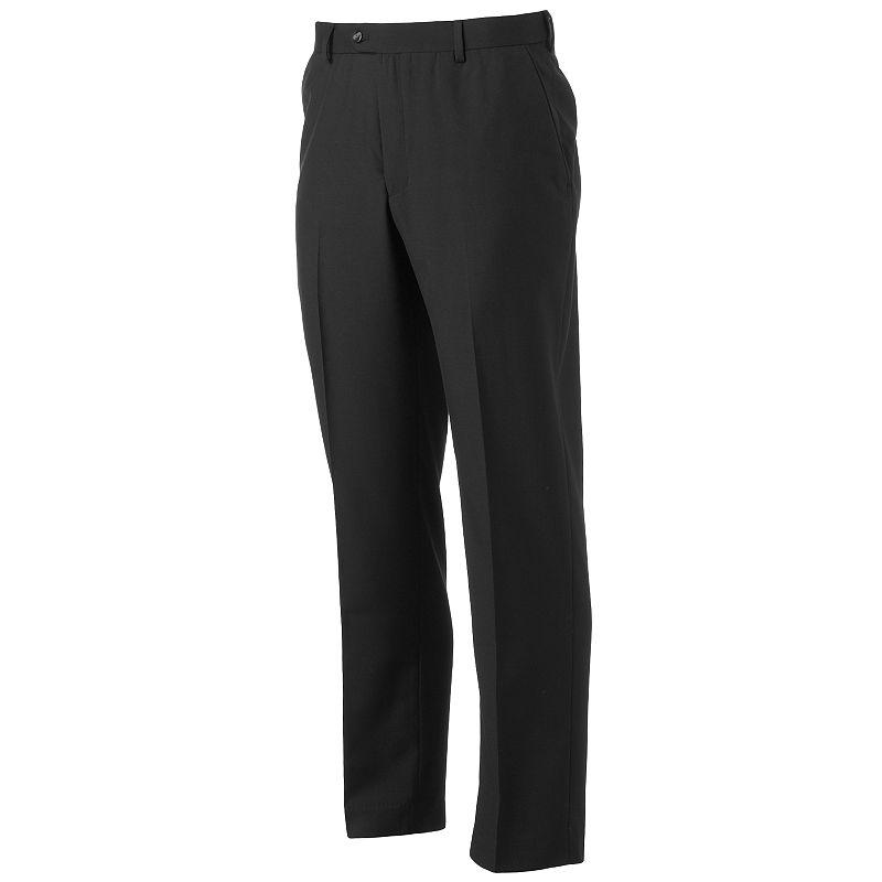 Men's Croft & Barrow Straight-Fit Easy-Care Flat-Front Comfort Dress Pants