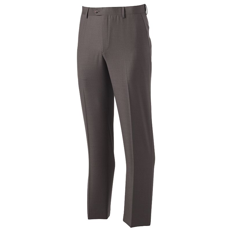 Men's Croft & Barrow Straight-Fit Easy-Care Flat-Front Comfort Dress Pants