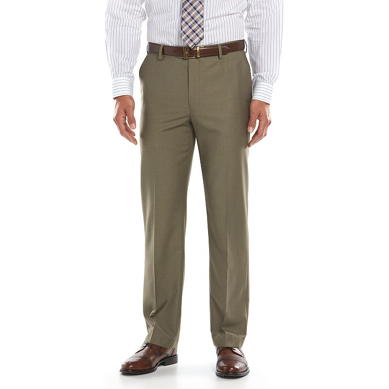 Men's Croft & Barrow True Comfort Straight-Fit Flat-Front Dress Pants