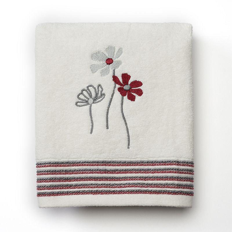 Saturday Knight, Ltd. Evan Stripe Floral Hand Towel