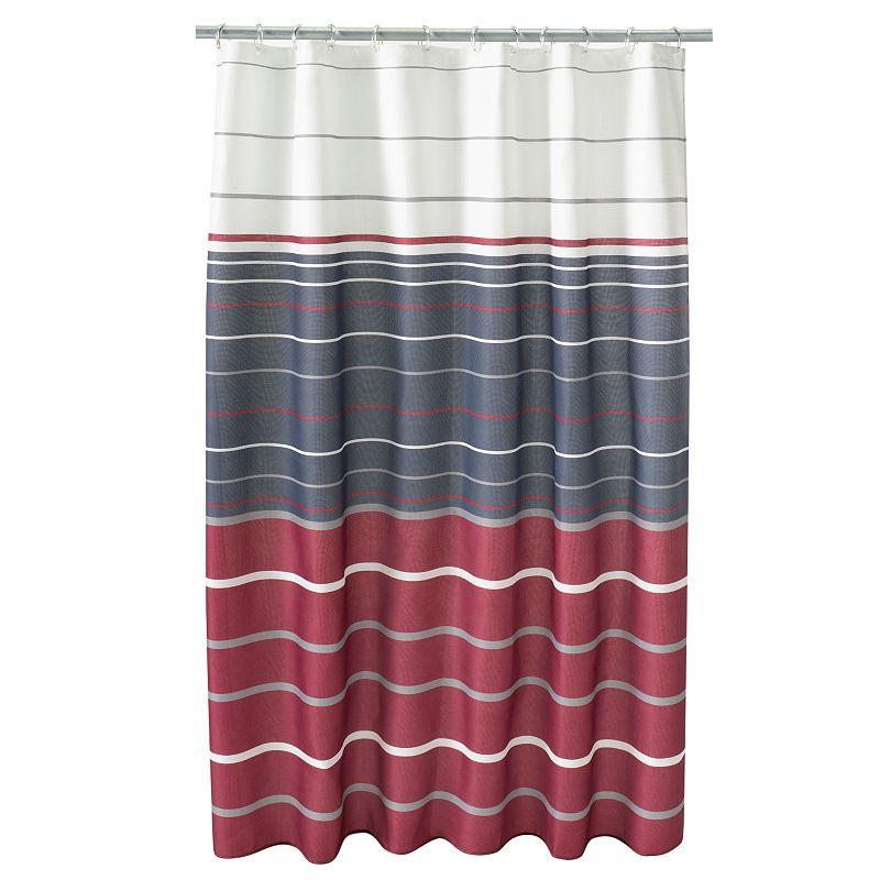 Saturday Knight, Ltd. Evan Stripe Fabric Shower Curtain