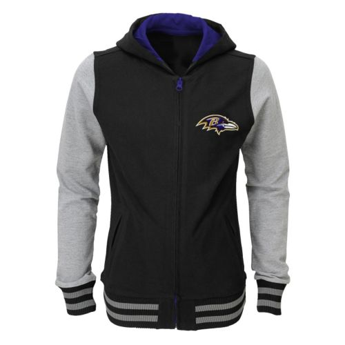 Girls 4-6x Baltimore Ravens Varsity Hoodie Jacket
