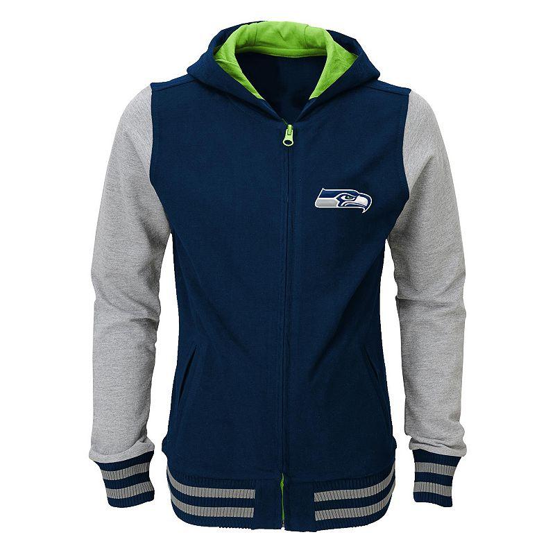Girls 4-6x Seattle Seahawks Varsity Hoodie Jacket