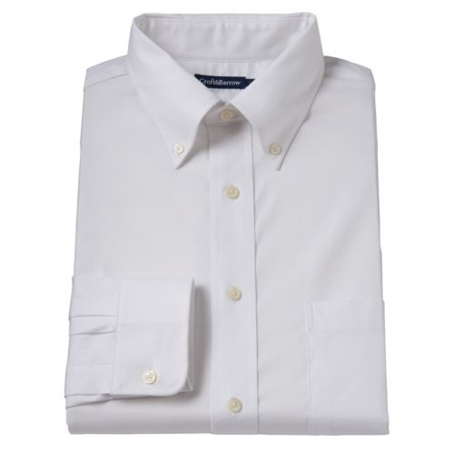 Men's Croft & Barrow ® True Comfort Classic-Fit Oxford Easy-Care Stretch Dress Shirt