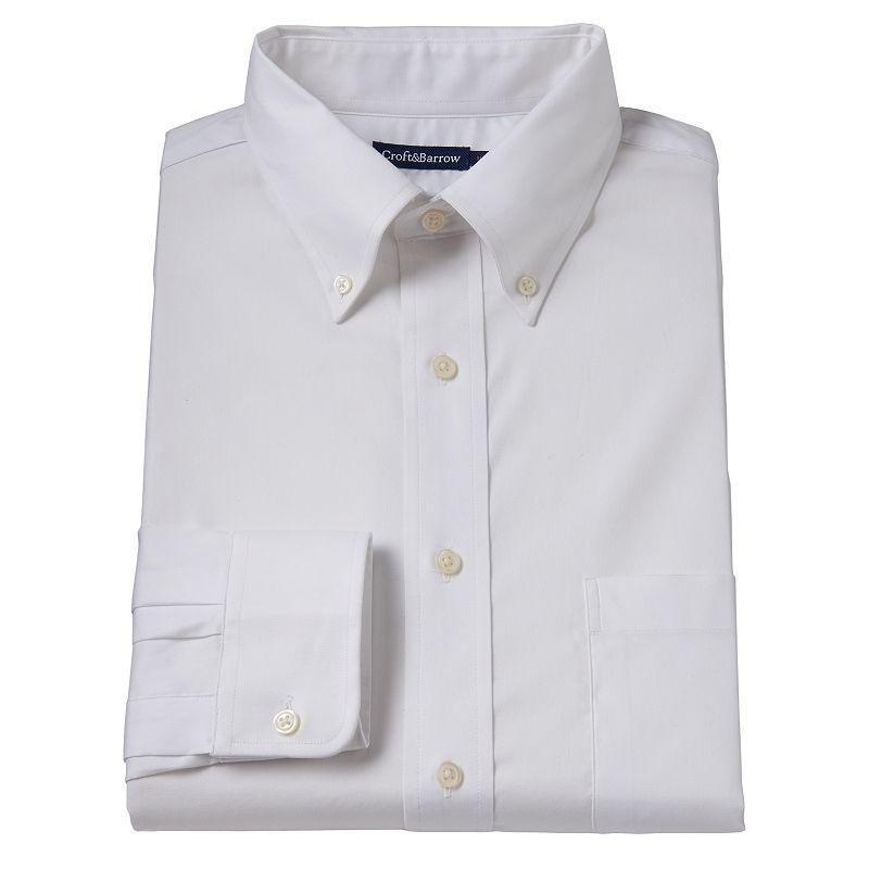 Men's Croft & Barrow ® True Comfort Classic-Fit Oxford Easy-Care Stretch Dress Shirt