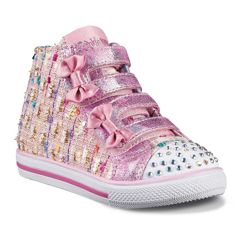 Skechers Twinkle Toes Chit Chat Lil' Primpers Toddler Girls' Light-Up Sneakers