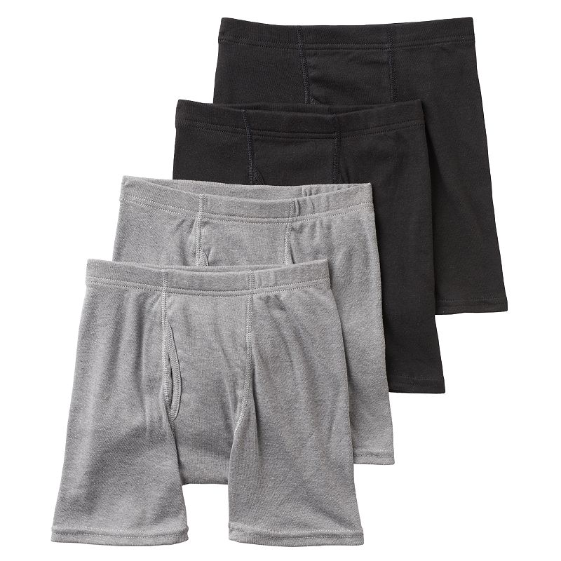 Boys Hanes Ultimate 4-Pack Dyed Boxer Briefs