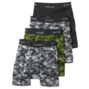 Hanes Ultimate 4-Pack Printed Boxer Briefs - Boys
