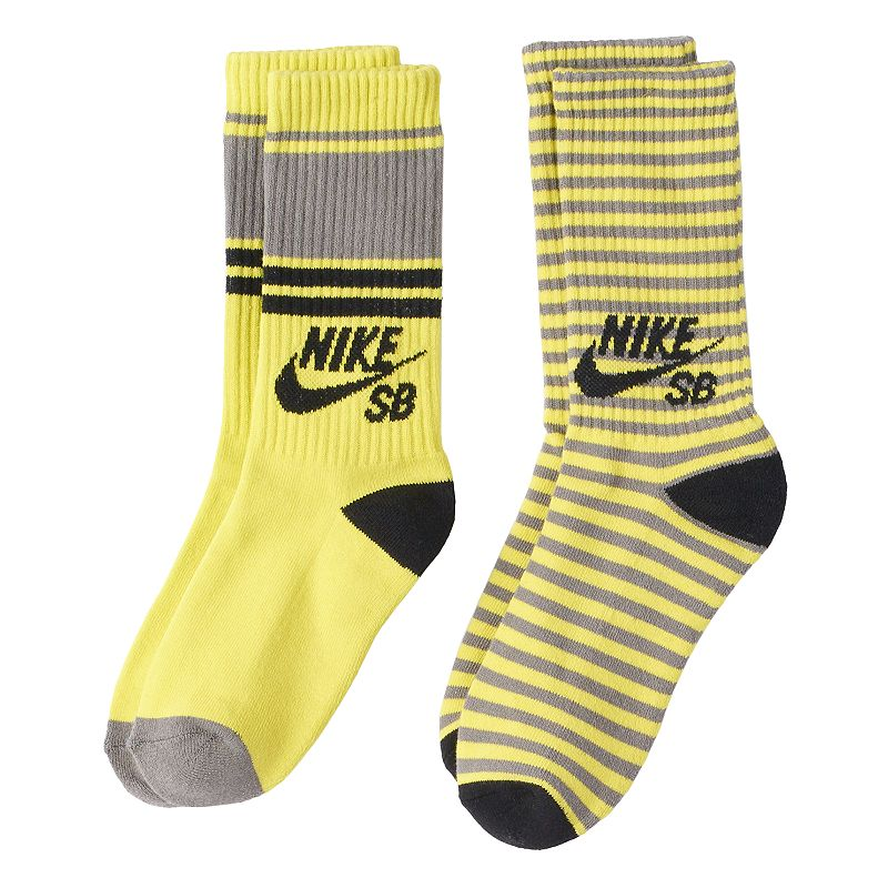 Boys 8-20 Nike SB 2-Pack Striped Out Crew Socks