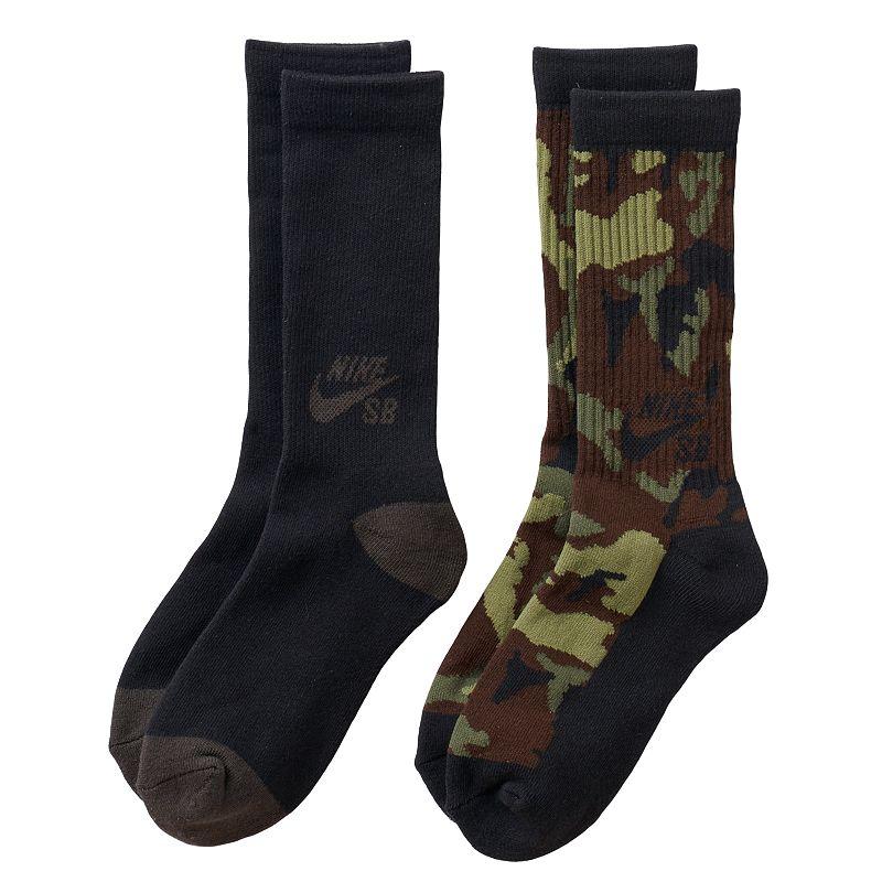 Boys 8-20 Nike SB 2-Pack Camouflage Crew Socks