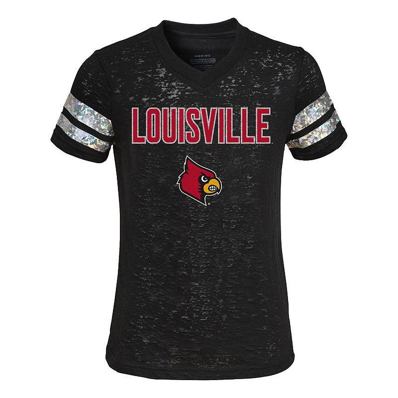 Girls 7-16 Louisville Cardinals Opal Burnout Tee