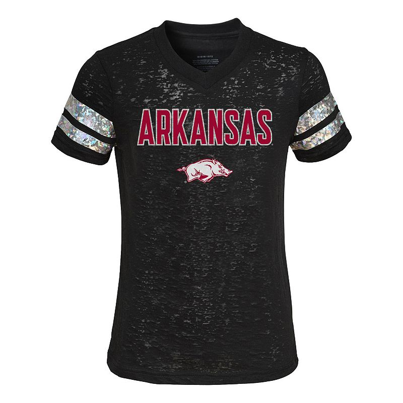 Girls 7-16 Arkansas Razorbacks Opal Burnout Tee