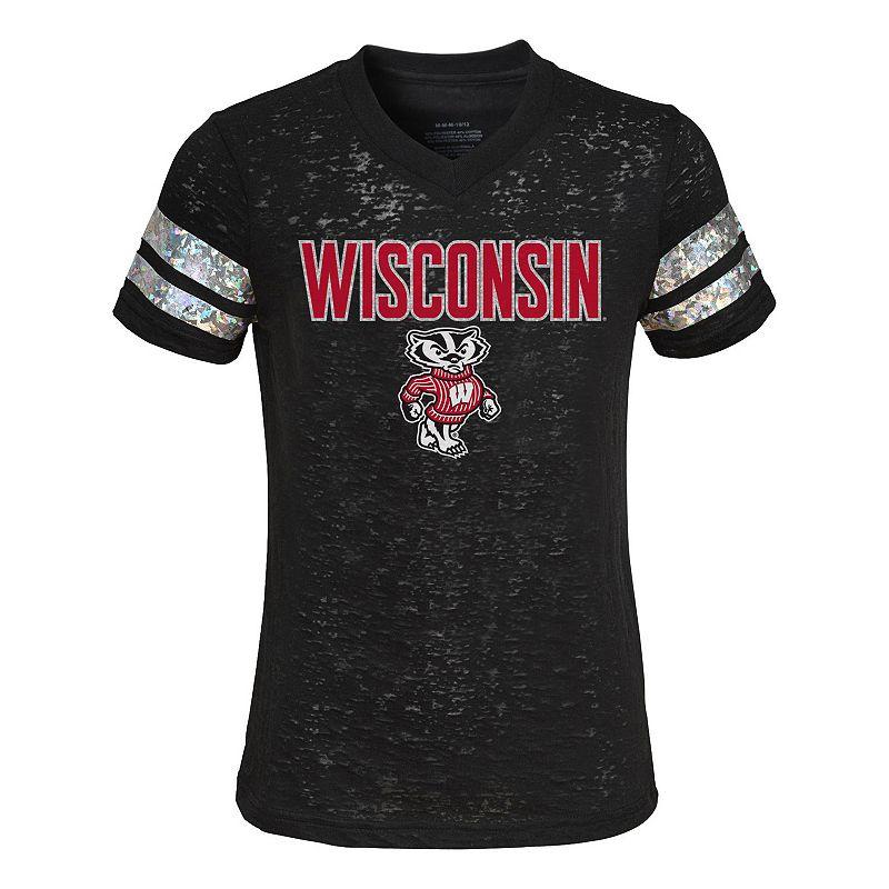 Girls 7-16 Wisconsin Badgers Opal Burnout Tee