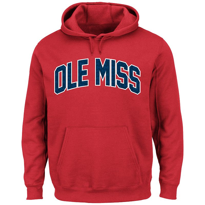 Men's Section 101 by Majestic Ole Miss Rebels No Penalty Hoodie