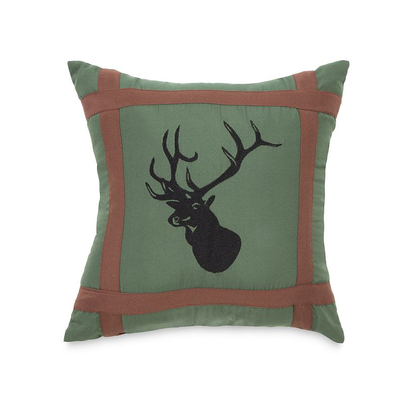 True Timber Mixed Pine Embroidered Deer Throw Pillow