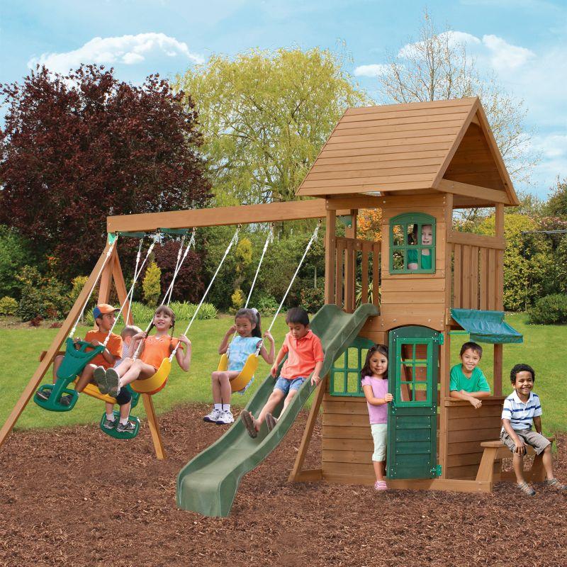 Huge Backyard Playsets : big backyard windale wooden swing set big backyard windale wooden