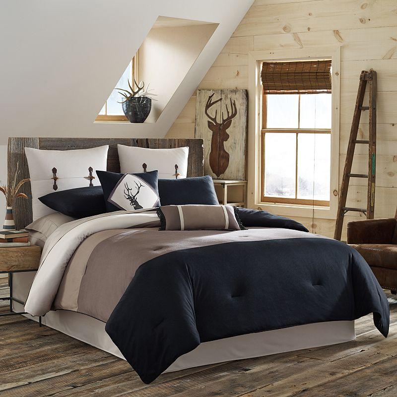 True Timber Pieced Stripe 4-pc. Reversible Comforter Set - Queen