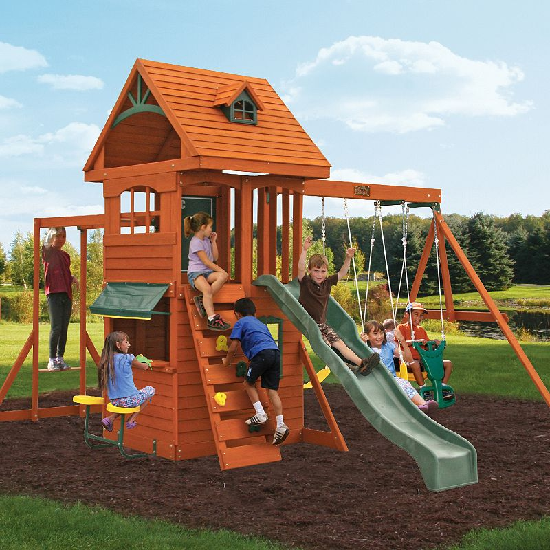 Walmart Deals Backyard Discovery Pathfinder II Cedar Swing
