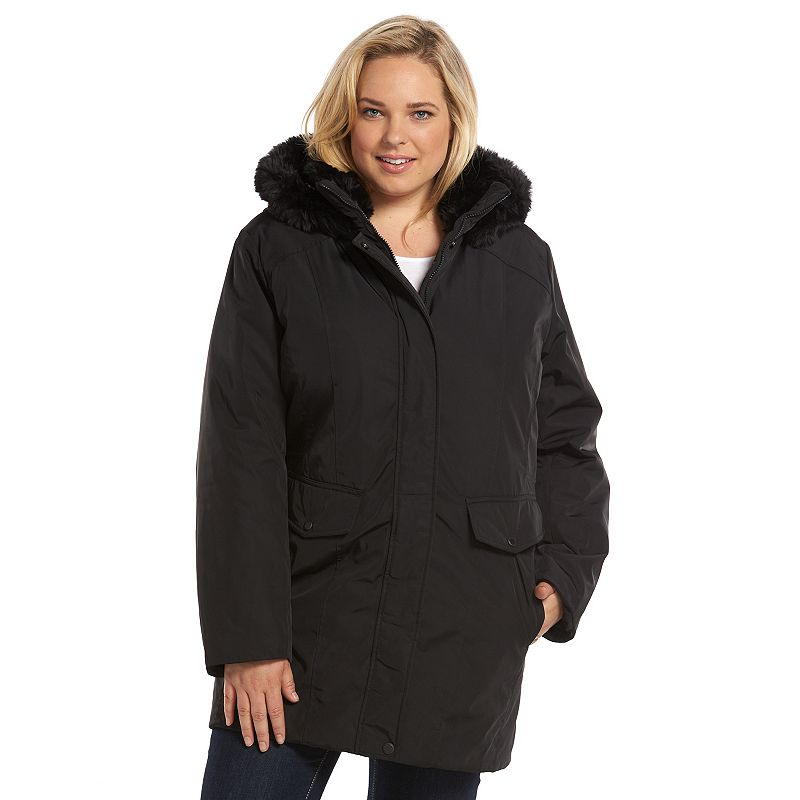 Plus Size AM Studio by Andrew Marc Hooded Rain Jacket