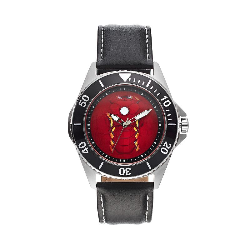 The Avengers Age of Ultron Iron Man Men's Leather Watch