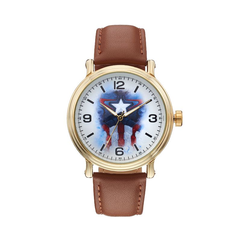The Avengers Age of Ultron Captain America Men's Leather Watch