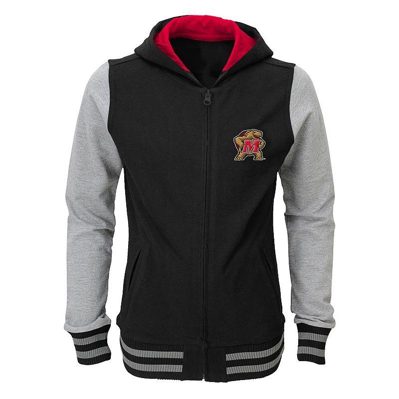 Girls 7-16 Maryland Terrapins Varsity Hoodie Jacket