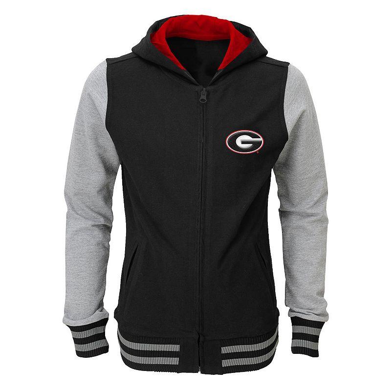 Girls 7-16 Georgia Bulldogs Varsity Hoodie Jacket