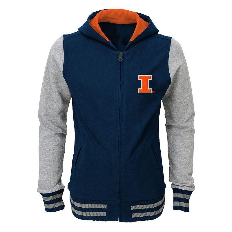 Girls 7-16 Illinois Fighting Illini Varsity Hoodie Jacket