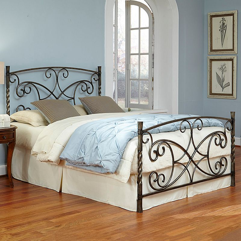 Fashion Bed Group Charisma Copper Chrome Bed