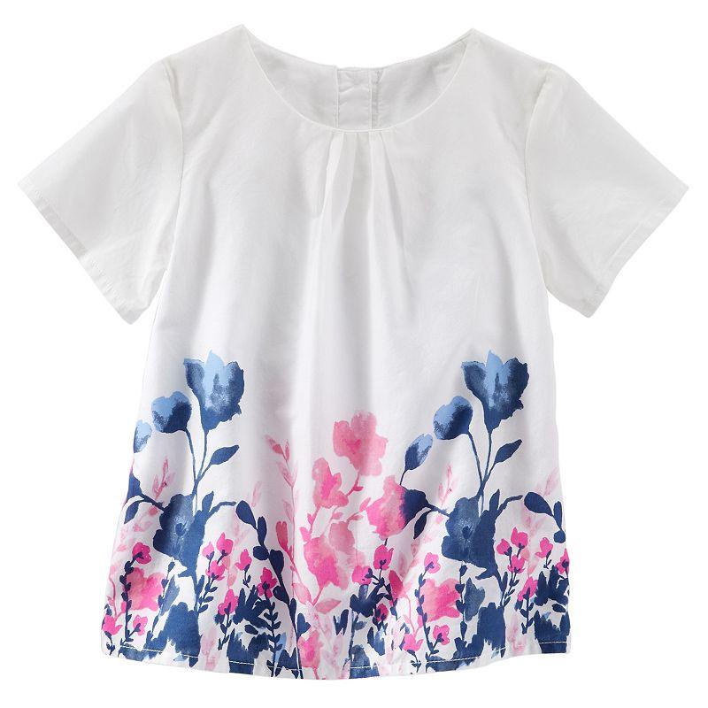 Girls 4-8 OshKosh B'gosh® Floral Woven Poplin Top