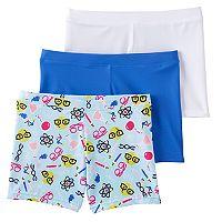 Girls 4-12 Maidenform 2-pack + 1 Bonus Playground Pals Bike Shorts