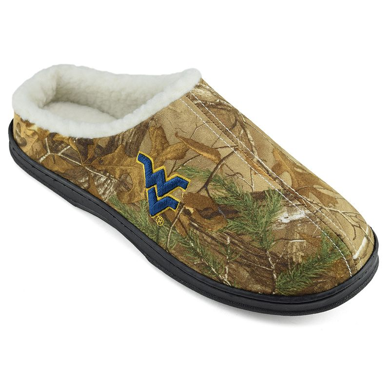 Men's West Virginia Mountaineers Camouflage Clog Slippers