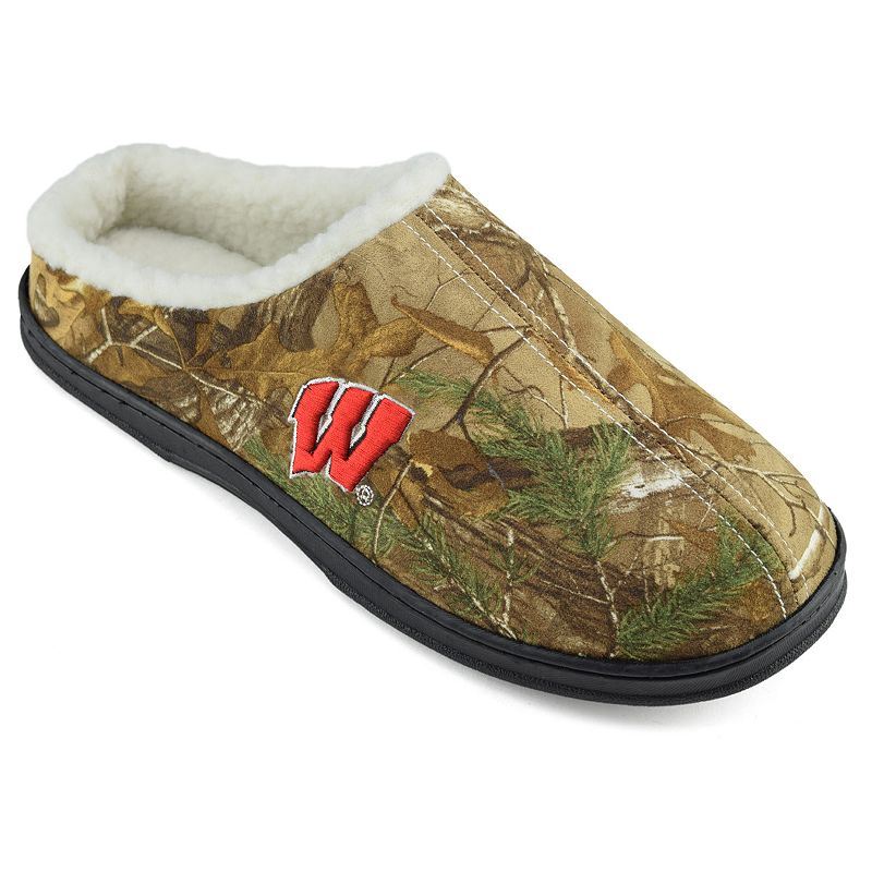 Men's Wisconsin Badgers Camouflage Clog Slippers