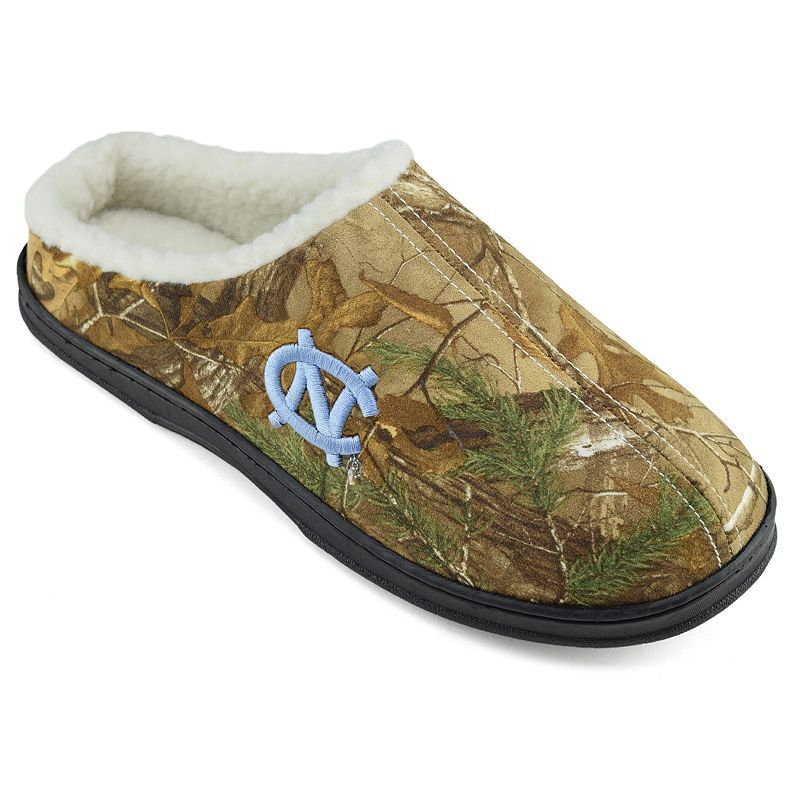 Men's North Carolina Tar Heels Camouflage Clog Slippers