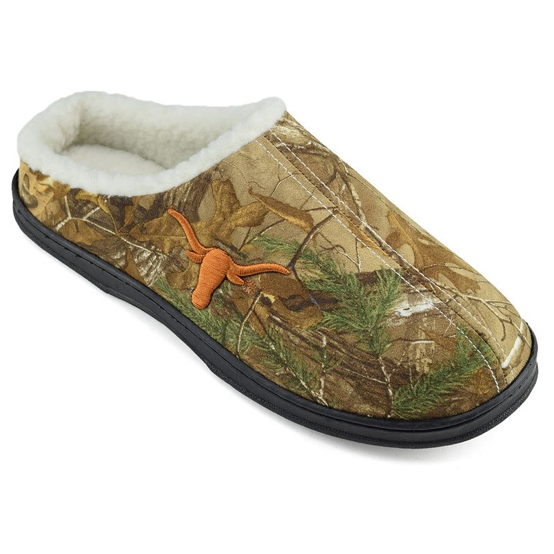 Men's Texas Longhorns Camouflage Clog Slippers