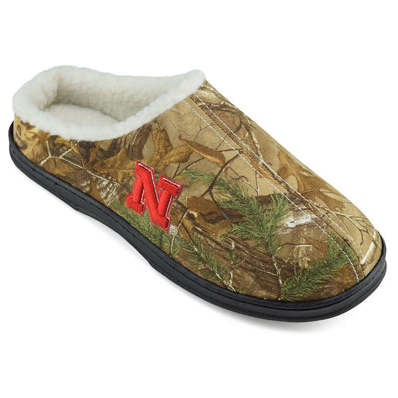 Men's Nebraska Cornhuskers Camouflage Clog Slippers