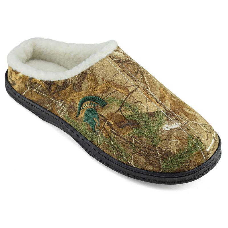 Men's Michigan State Spartans Camouflage Clog Slippers