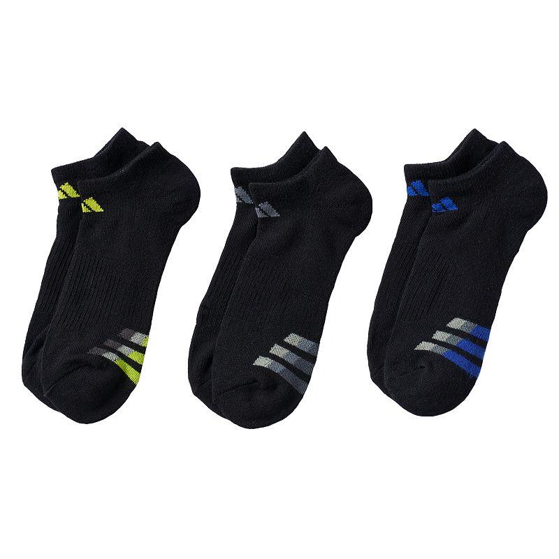 Boys 8-20 adidas 3-pk. ClimaLite Cushion No-Show Socks 8-11