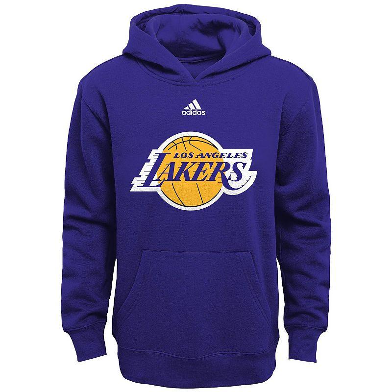 Boys 8-20 adidas Los Angeles Lakers Prime Pullover Fleece Hoodie