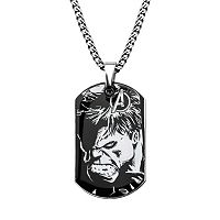 The Avengers Stainless Steel Hulk Dog Tag necklace - Men