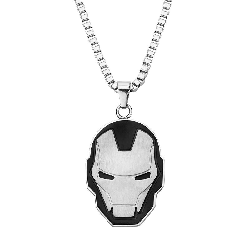 Iron Man Stainless Steel Two Tone Pendant Necklace - Men