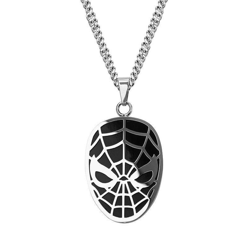 Spider-Man Stainless Steel Pendant Necklace - Men