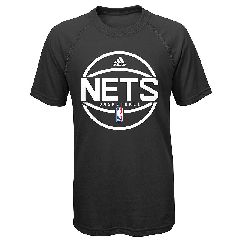Boys 8-20 Adidas Brooklyn Nets climalite Practice Tee, Boy's, Size: Large, Black