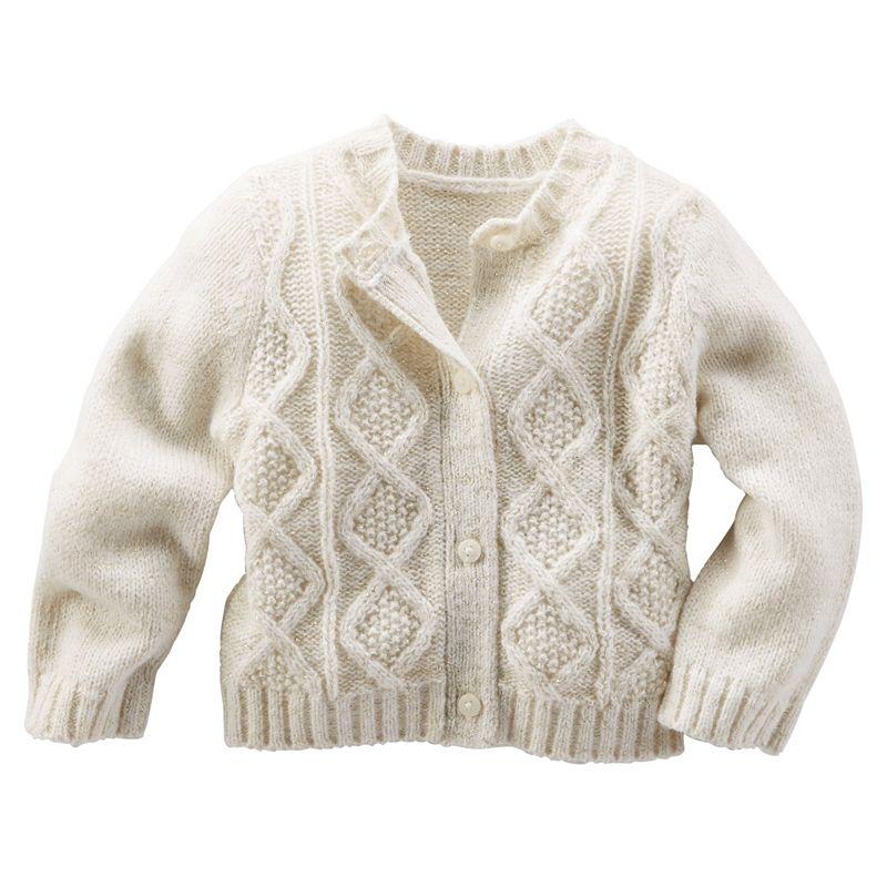 Baby Girl OshKosh B'gosh® Cable Knit Cardigan